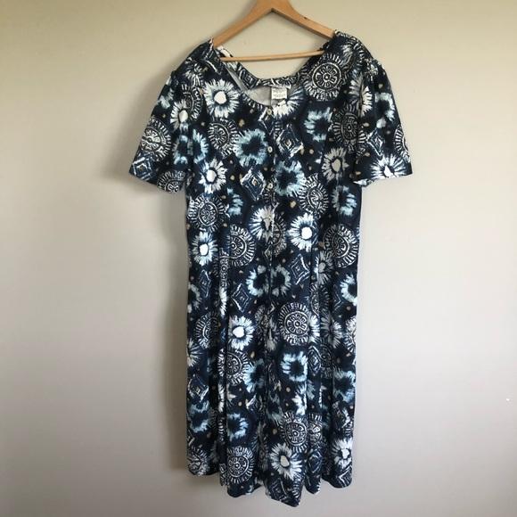 Vintage Plus Size Button Down Dress